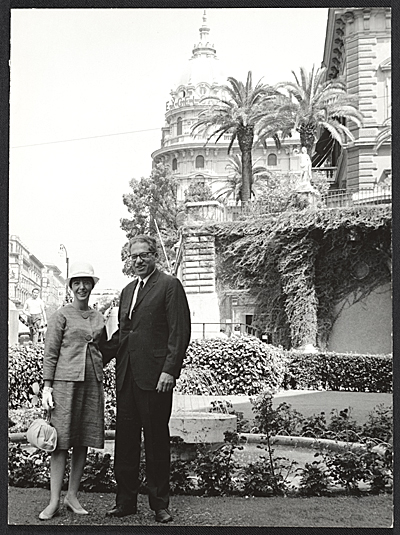 Jules Langsner and June Harwood Langsner in Italy