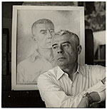 Edward Laning with his self portrait