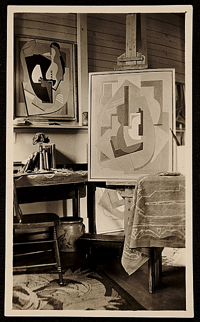 Blanche Lazzell studio, interior, Provincetown, Mass., February 27, 1927, by Unidentified photograph