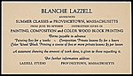 Blanche Lazzell art classes announcement