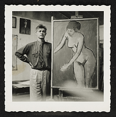 [James Lechay in his studio]