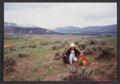 Woman and dog, Colorado