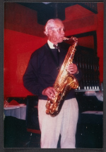 John Powers playing sax at the Sopris Restaurant (Colorado)
