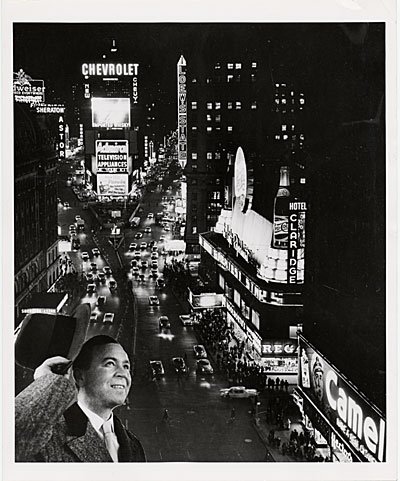 Douglas Leigh and Times Square at night