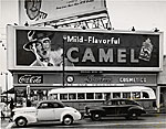 A Camel cigarette sign in Los Angeles, California