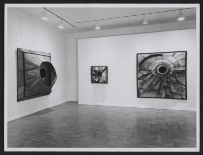 Installation view of Lee Bontecou show at the Castelli Gallery