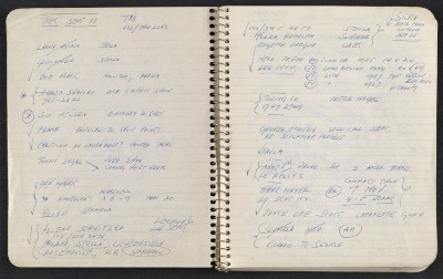 [Notebook of Leo Castelli]
