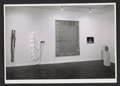 [Installation view of the Bruce Nauman exhibition at the Leo Castelli Gallery]