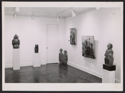Installation view of the Marisol exhibition