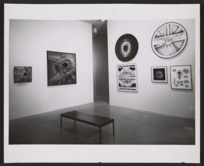 [Installation view of Lee Bontecou works in the Americans 1963 exhibition at the Museum of Modern Art]