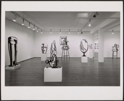 Installation view of Roy Lichtensteins Sculptures exhibition at 420 W. Broadway