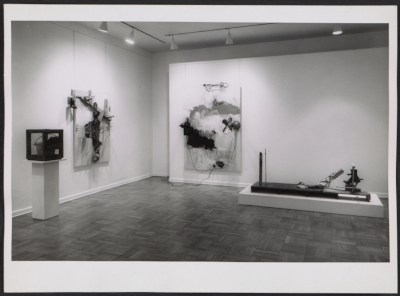 An installation view of the Robert Rauschenberg show