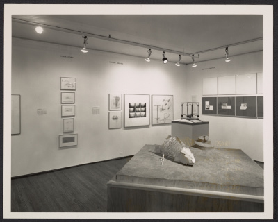 Installation view of the Architecture III: Follies exhibition at the Leo Castelli Gallery