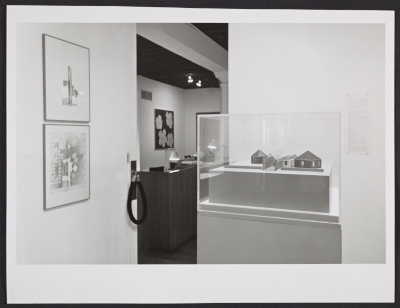 Installation view of the Architecture II: Houses for Sale exhibition at the Leo Castelli Gallery