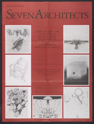 [Architecture: Seven Architects exhibition poster]