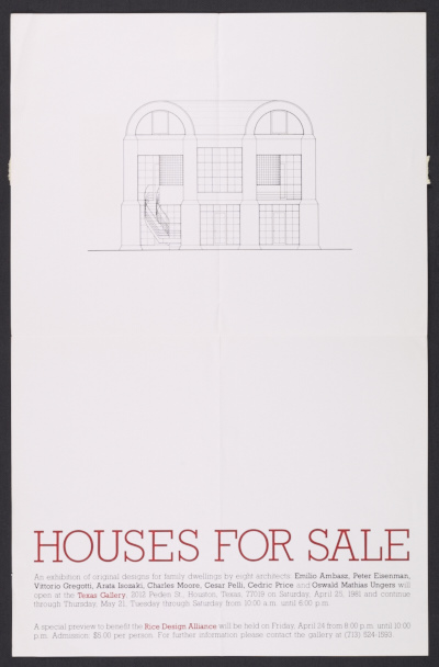 Houses for Sale exhibition poster
