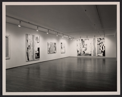 Installation view of Roy Lichtenstein exhibition at Leo Castelli Gallery at 420 W. Broadway in New York City, New York