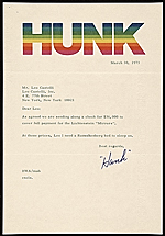 Harry Anderson letter to Leo Castelli