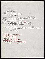 [Frank Stella note to Leo Castelli, New York, N.Y. 1]