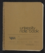 [Notebook of Leo Castelli cover 1]