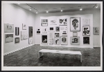An installation view of a benefit exhibition for the Foundation for Contemporary Arts