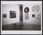 Installation view of Lee Bontecou works in the Americans 1963 exhibition at the Museum of Modern Art