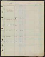 [Robert Rauschenberg's early registry with Leo Castelli Gallery verso 1]