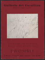 Twombly catalogue from the Galleria del Cavallino