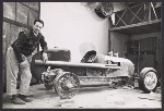 Salvatore Scarpitta with race car