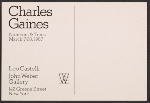 Exhibition announcement for Charles Gaines: Numbers & Trees