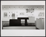 Installation view of the Architecture I exhibition at the Leo Castelli Gallery