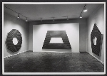 Installation view of a Frank Stella exhibition at the Leo Castelli Gallery