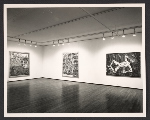 View of 1986 Robert Combas Exhibition at Leo Castelli Gallery at 420 W. Broadway in New York City