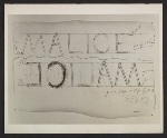 Bruce Nauman, Drawing for Malice