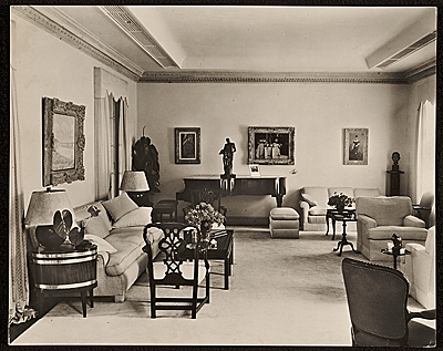 [Edward G. Robinson's home. View of living room]