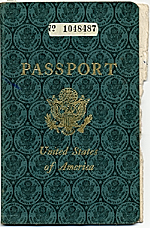 [Dorothy Liebes' passport cover ]