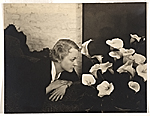 [Woman with calla lilies]