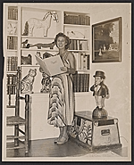Jean Lipman in her home library