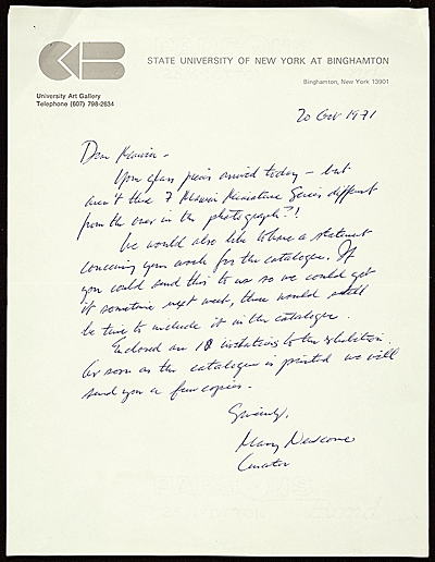 Mary Newcome-Schleier letter to Marvin B. Lipofsky, Berkeley, Calif.