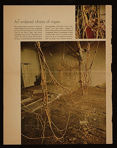 [An ordered chaos of ropes]