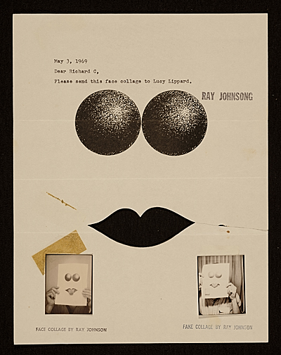 [Ray Johnson mail art to Lucy R. Lippard]