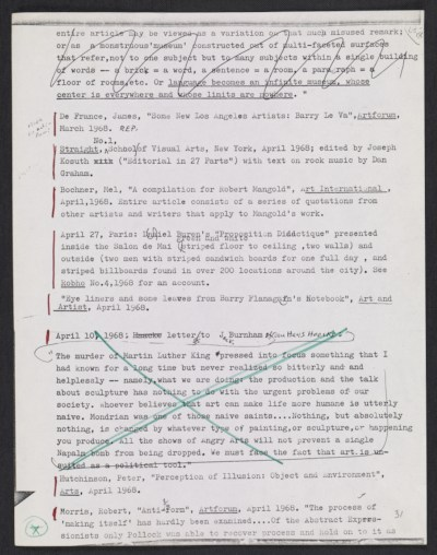 [Page 68-18 from manuscript for Six Years: The Dematerialization of the Art Object from 1966-1972]