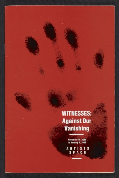 [Witnesses: against our vanishing]