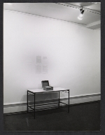 Installation view of Robert Barrys exhibition at Galerie Yvon Lambert