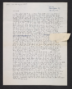 Harmony Hammond letter to Lucy R. Lippard