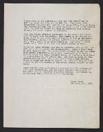 Nancy Spero letter to Lucy R. Lippard
