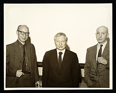 Michael Loew, Louis Kahn, and George McNeil at the Rutgers State University Symposium