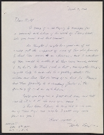 Michael Loew letter to Willem de Kooning