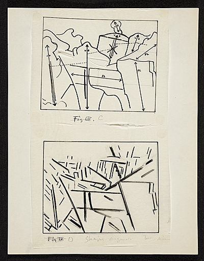 [Diagrams of Cézanne's painting]