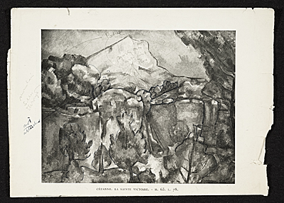 [Reproduction of Cézanne's Sainte Victoire]